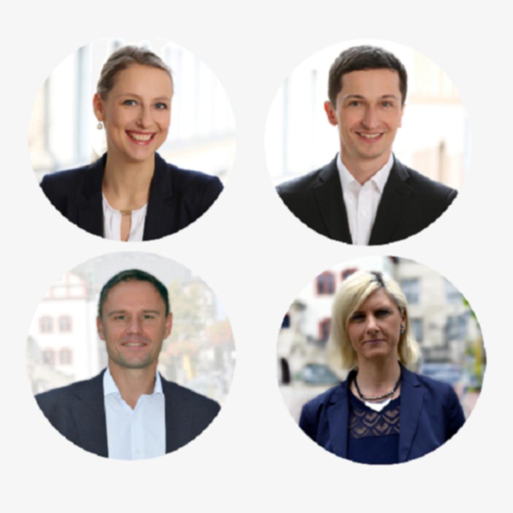 Finanzierungsberater Marcel Wolf / Axel Unglaub /Manuela Müller / Stefanie Rupprecht